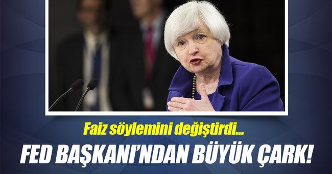 Fed Başkanı Yellen faiz söylemini değiştirdi!