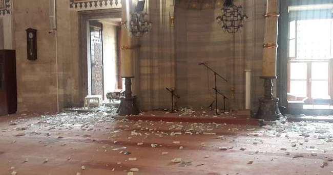 Patlama sonrası tarihi cami bu hale geldi