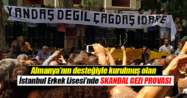 İstanbul Erkek'te Gezi provası