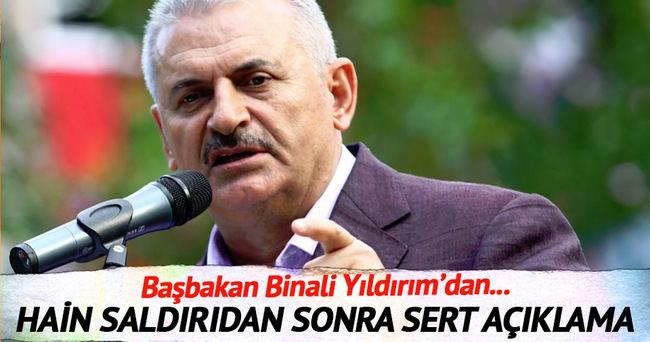 İstanbul'daki patlamadan sonra Başbakan'dan ilk açıklama