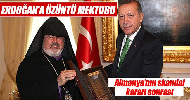 Ermeni cemaatinden Erdoğan'a üzüntü mektubu