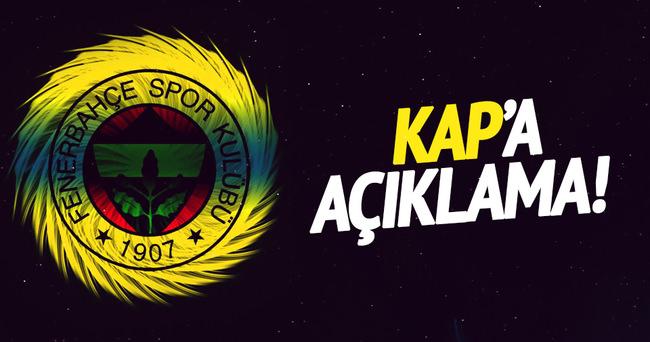 Fenerbahçe'den KAP'a açıklama
