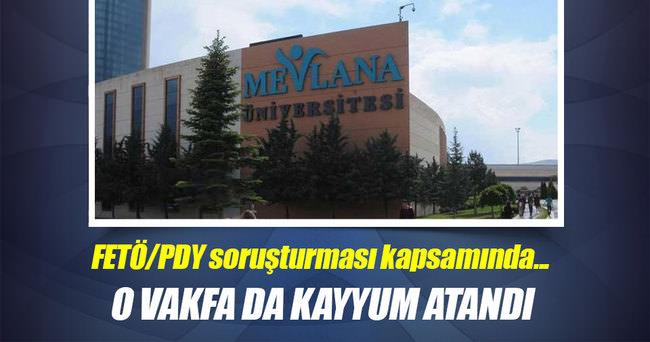 Konya'da FETÖ/PDY soruşturmasında Vakfa kayyum atandı