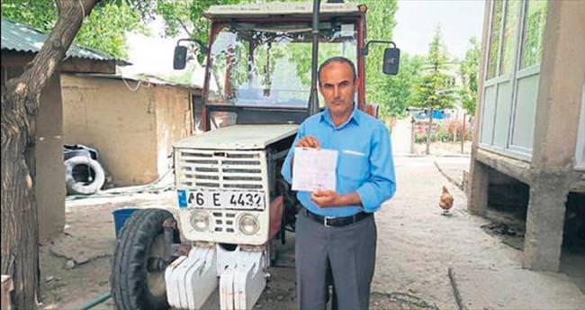 Traktöre hız cezası