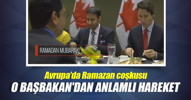 Kanada Başbakanı Trudeau iftar yemeğinde!