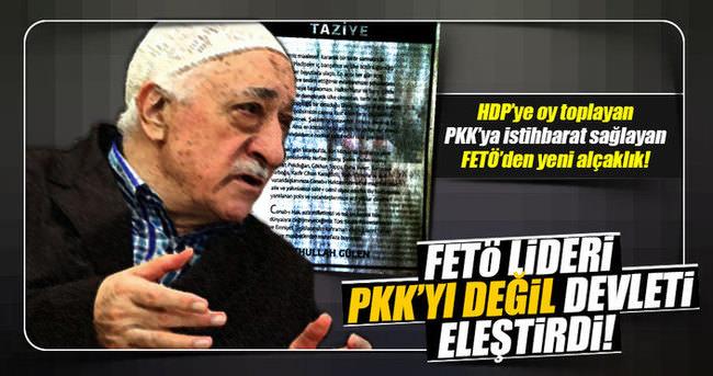 FETÖ lideri PKK'yı değil devleti eleştirdi