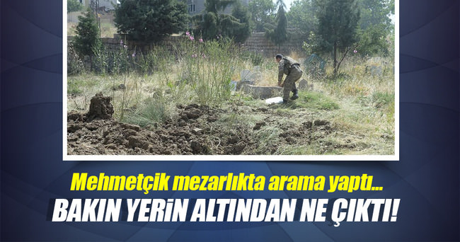 PKK'lılar mezarlığa bile patlatıcı döşemiş!