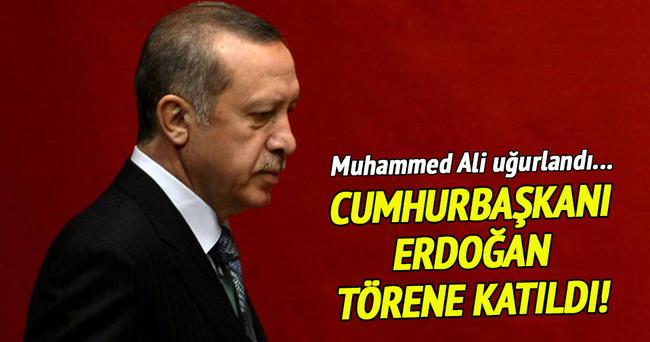 Cumhurbaşkanı Erdoğan cenaze töreninde