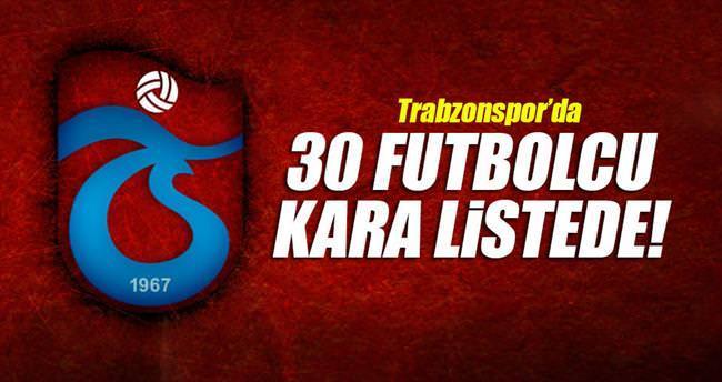 30 futbolcu kara listede