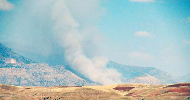 Cudi Dağı'nda yangın