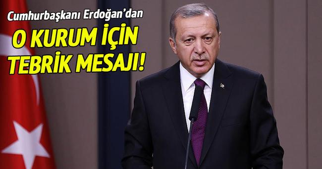 Erdoğan'dan Türk Kızılayı'na tebrik mesajı