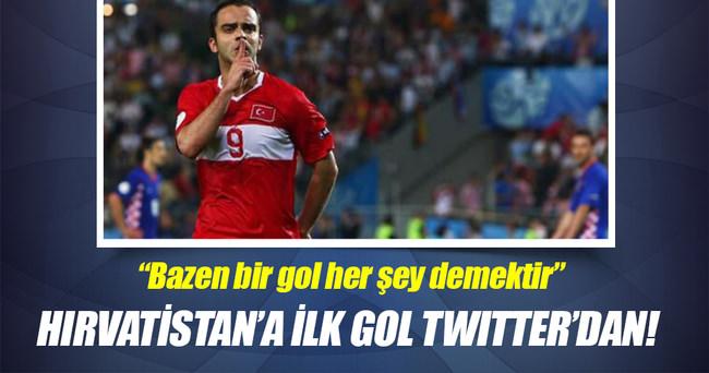 Hırvatistan'a ilk gol Twitter'dan!