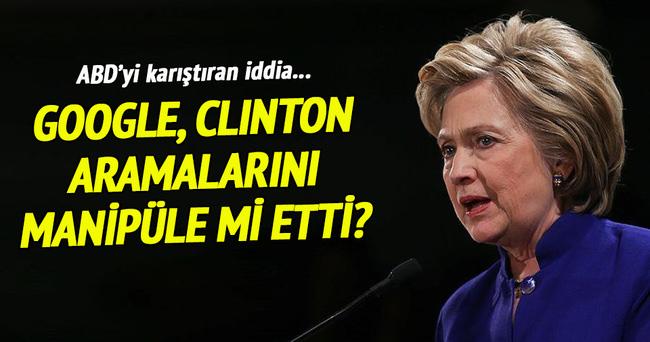 Google, Clinton aramalarını manipüle mi etti?