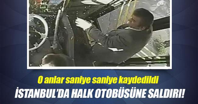 Sultanbeyli'de halk otobüsüne saldırı!
