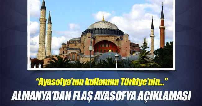 Ayasofya'nın kullanımı Türkiye'nin meselesi olduğunu söylemek lazım