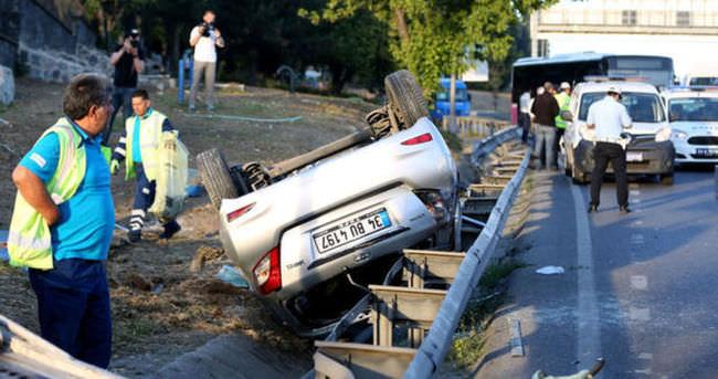 Haliç'te feci kaza: 1'i ağır 4 yaralı
