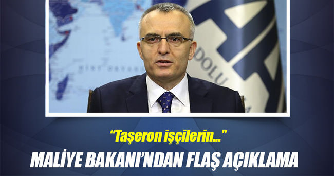 Maliye Bakanı Ağbal'dan flaş açıklama