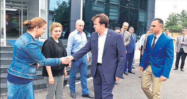 Başkan Fatih Erkoç KASKİ'de incelemede