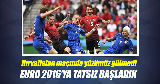 EURO 2016'ya tatsız başladık!