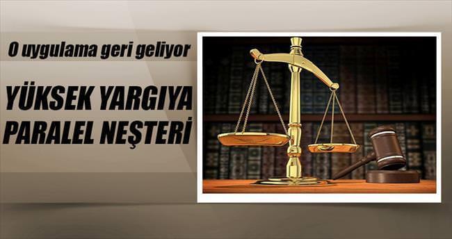 Yüksek yargıya Paralel neşteri