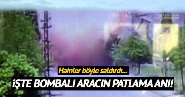 Tunceli'de teröristler bombayı böyle patlattı!