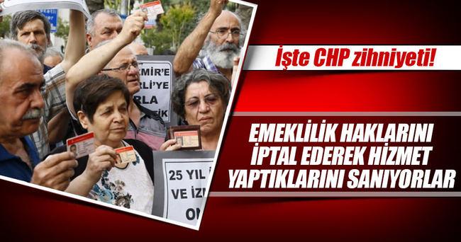 Emeklinin hakkını yok ederek hizmet yaptığını sanan belediyecilik anlayışı İzmir'de