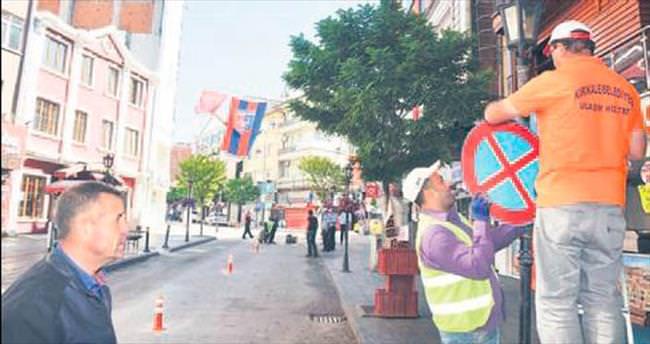 Zafer Caddesi'nde trafik düzenlemesi