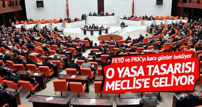 Teröre darbe vuracak yasa tasarısı Meclis'te