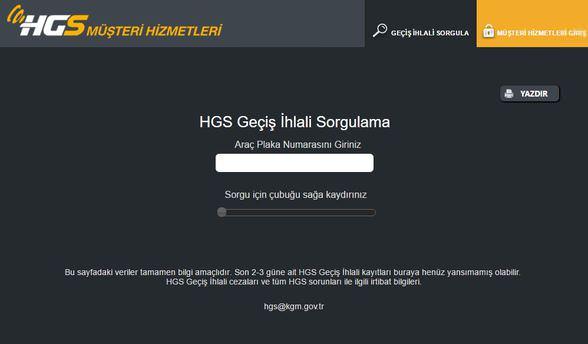 HGS geçiş ihlali ve kat bakiyes sorgulama işlemleri!
