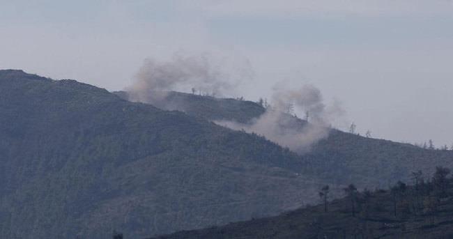 Türkmendağı'na yoğun bombardıman başladı