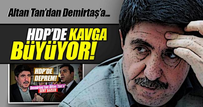 HDP'de kavga büyüyor, Altan Tan'dan Demirtaş'a yanıt