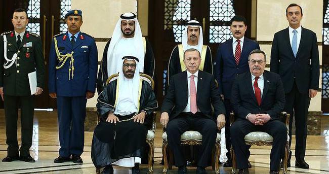 Erdoğan, BAE'nin Ankara Büyükelçisi Marar'ı kabul etti