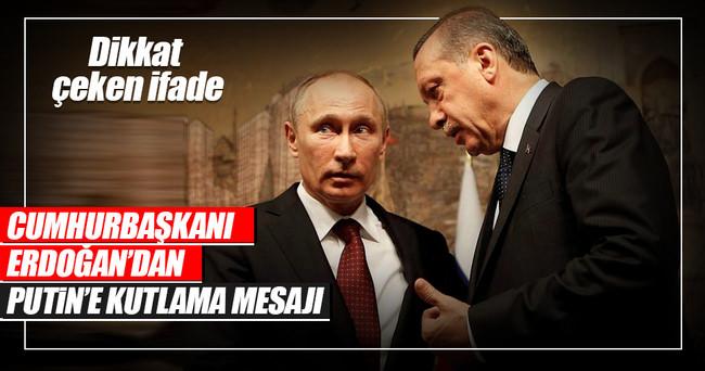 Cumhurbaşkanı Erdoğan'dan Putin'e mektup