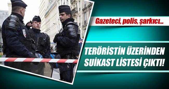 Teröristin üzerinden suikast listesi çıktı!