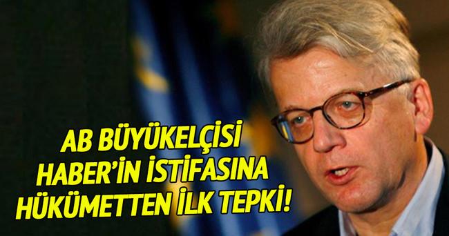 AB Büyükelçisi'nin istifasına hükümetten ilk tepki!