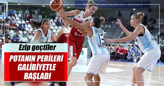 Türkiye A Milli Kadın Basketbol Takımı galibiyetle başladı