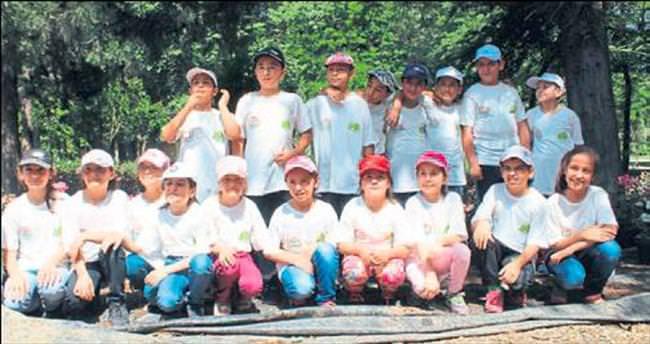 Çocuklar tarımı serada öğrendi