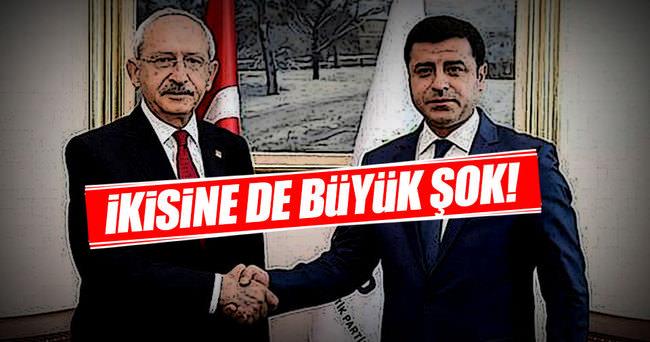 Kılıcdaroğlu ve Demirtaş'a şok!
