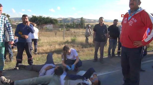 Kırıkkale'de kaza 3'ü ağır, 20 yaralı