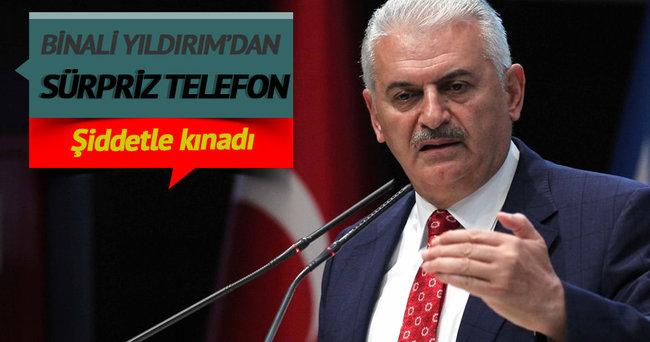Başbakan Binali Yıldırım'dan sürpriz telefon