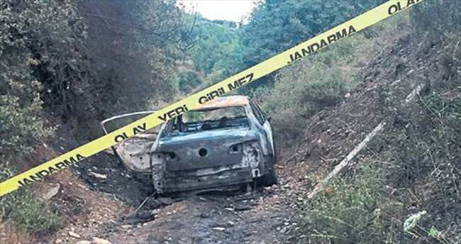 Yanan araçtan ceset çıktı: 4 gözaltı