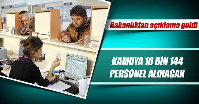 Kamuya KPSS puanına göre 10 bin 144 personel alınacak