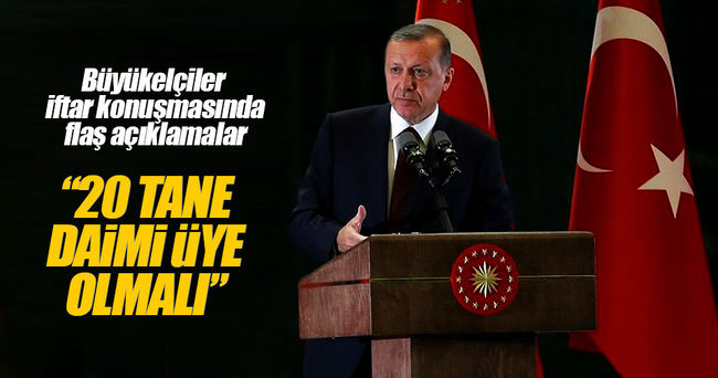 Cumhurbaşkanı Erdoğan: 196 ülkeyi 5 ülkenin dudakları arasına mahkum edemeyiz