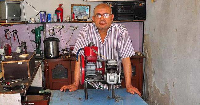 Marangoz ustasından havayla çalışan motor
