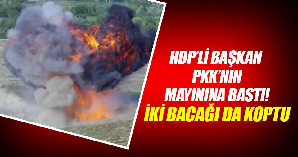Mayına basan HDP'li başkan ağır yaralandı