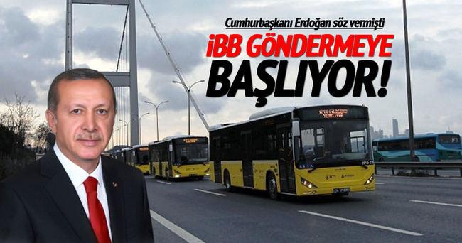 İBB'den 9 ülkeye otobüs