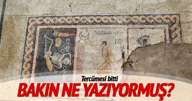 Hatay'da bulunan mozaiğin tercümesi bitti