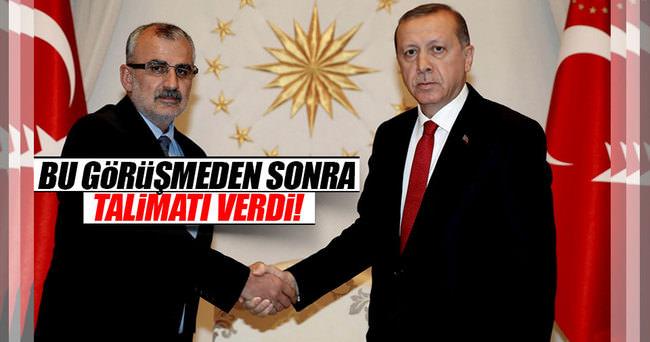 Cumhurbaşkanı Erdoğan'dan Midyat talimatı