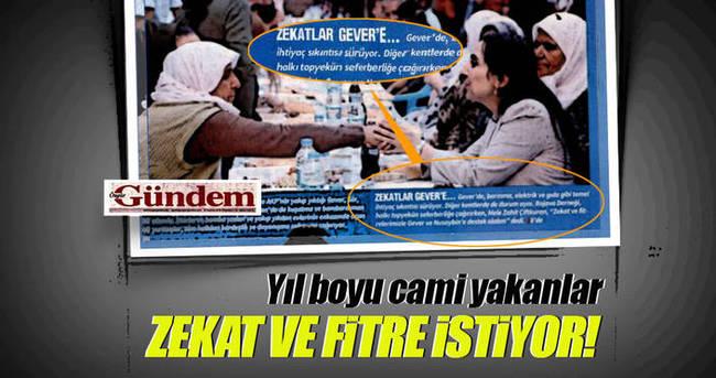 Özgür Gündem PKK'ya zekat ve fitre istedi!