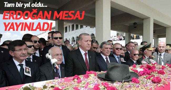 Cumhurbaşkanı Erdoğan Demirel'in ölüm yıldönümü için mesaj yayınladı